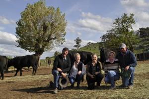 Nick Keatinge, Jessica and Shauna Graham, Poppy Nation, Andrew Keatinge at Bongongo Angus Sale 2013